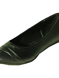 Для женщин На плокой подошве Удобная обувь Полиуретан Лето Повседневные Удобная обувь На плоской подошве Белый Черный На плоской подошве