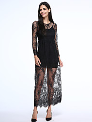 Women's Reverse Lace Lady Maxi Dress