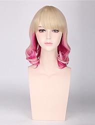 loiro cor de rosa mulheres cores misturadas perucas sintéticas moda cosplay perucas