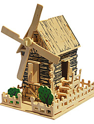 Puzzles 3D - Puzzle Holzpuzzle Bausteine Spielzeug zum Selbermachen Windmühle Holz