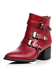 Women's Boots Spring / Fall / Winter Heels / Fashion Boots / Motorcycle Boots / Pointed Toe Chunky Heel Zipper