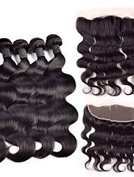 4 предмета Естественные кудри Ткет человеческих волос Индийские волосы 350-380g 10''-30'' Расширения человеческих волос