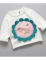 Girl's Casual/Daily Embroidered BlouseCotton Spring / Fall White