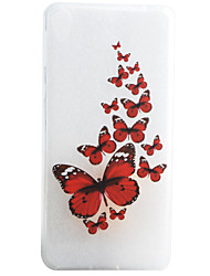 Pour Coque Sony / Xperia XA Motif Coque Coque Arrière Coque Papillon Flexible TPU pour Sony Sony Xperia XA / Sony Xperia E5