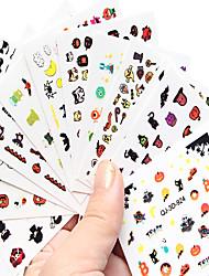 10 Nail Art Sticker Decalques de transferência de água Desenho Animado / Adorável maquiagem Cosméticos Prego Design Arte