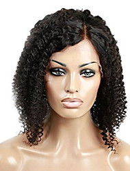 100% Unprocessed Brazilian Virgin Human Hair Wig Black Color Kinky Curly Lace Front Wig With Baby Hair