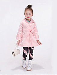 Girl's Casual/Daily Print Trench CoatCotton / Rayon Winter / Spring / Fall Pink