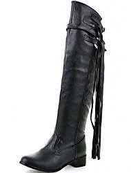 Femme-Mariage Bureau & Travail Habillé Décontracté Soirée & Evénement Work & Safety--Gros Talon Block Heel-Nouveauté Bottes de Cowboy /