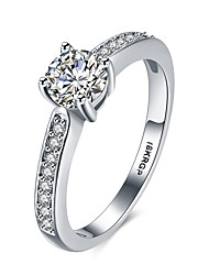 Women's Band Rings Costume Jewelry Fashion Vintage Personalized Hypoallergenic Platinum Sterling Silver Zircon Cubic Zirconia 18K gold