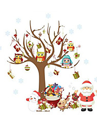Christmas Party Decoration Wall Stick Christmas tree Santa Claus Removable New Year Christmas tree Santa Claus