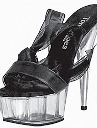 Women's Heels Summer Fall Heels / Platform / Silk ribbon Sandals / Party & Evening / Dress / Casual Stiletto Heel