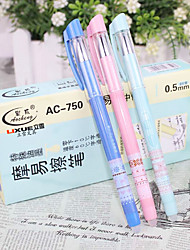 12 PCS Floral Black Ink Gel Pen