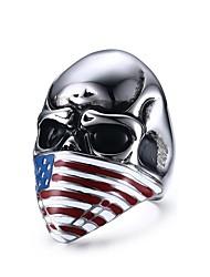Кольца В форме черепа Мода Для вечеринок Повседневные Новогодние подарки Бижутерия Нержавеющая сталь Мужчины Классические кольца 1шт,7 8