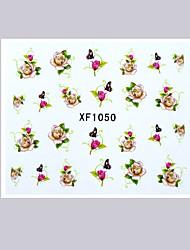 маникюр моделирования цветок наклейки для ногтей водяной знак