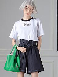 solide jeans / shorts pantsvintage de room404 femmes simple /