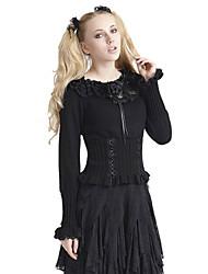 LM-001  Lolita Women's Solid Black Cute Long Sleeve Sweater