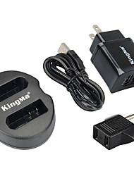 KingMa Dual USB Charger for Nikon EN-EL14 Battery and Nikon P7000, P7100, P7700, P7800, D3100, D3300, D5100, D5300