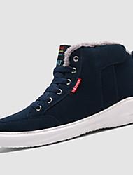Men's Sneakers Spring / Fall Comfort Fabric Casual Flat Heel Black / Blue / Green Sneaker
