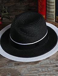 Для мужчин Для мужчин Винтаж Соломенная шляпа,Сатин,Все сезоны