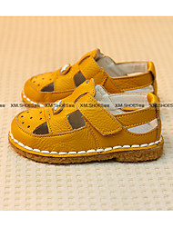 Boys' Sandals Fall Leather Casual Flat Heel White Yellow Blue