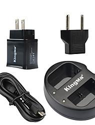 Kingma dual usb lader voor Canon LP-E6 batterij en canon eos 5D2 5D3 70d 6d 7d 7d2 60d met usb-adapter macht