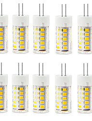 10pcs g4 2.5w 33led smd2835 250-300lm chaud blanc / blanc décoratif ac220-240v led bi-pin lights