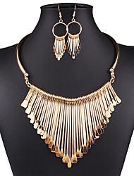 Jewelry Set Drop Earrings Statement Necklaces Bib necklaces Sexy Fashion European Statement Jewelry Vintage Alloy Jewelry Gold Silver