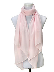 Solid Color Chiffon Scarves Sunscreen Shawl Soft Silky Scarves