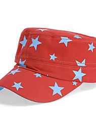 Unisex Cotton Stars Printed Flat Cap Summer Outdoor Sun Hat Baseball Casual Cap