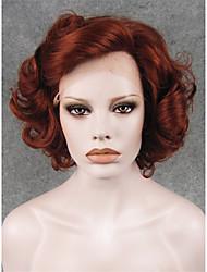 imstyle 10heat резистентный каштановый фигурных синтетический парик шнурка передние волосы