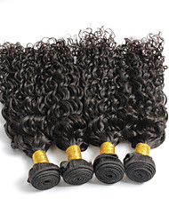 4Pcs/Lot Curly Hair Wefts Brazilian Virgin Hair Brazilian Kinky Curly Virgin Hair Human Hair Weaves