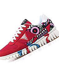 Femme-Décontracté / Sport-Noir / Bleu / Rouge-Talon Plat-Confort-Sneakers-Daim / Tulle