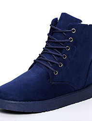 Men's Boots Fall / Winter Snow Boots  Casual Flat Heel Lace-up Black / Blue / Gray / Khaki Walking