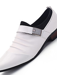 Men's Loafers & Slip-Ons Comfort Leather Office & Career / Party & Evening / Casual Flat Heel Slip-on