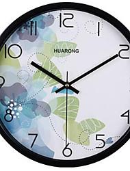 Modern/Zeitgenössisch / Leger Familie Wanduhr,Kreisförmig Metall 20*20*3 Innen/Aussen / Drinnen / Draußen Uhr