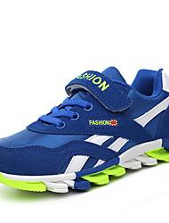 Unisex Sneakers Spring / Summer / Fall / Winter Comfort Suede Outdoor / Athletic / Casual Flat Heel Hook & LoopBlack