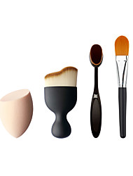 3 Pincel para Blush / Pincel para Base / Contour Pincel Pêlo Sintético Profissional / Ecológico / Portátil Plastic Rosto Outros