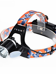 U`King® Headlamps / Headlamp Straps LED 6000LM Lumens 4 Mode Cree XM-L T6 18650 Rechargeable / Compact SizeCamping/Hiking/Caving /