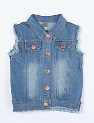 Mädchen Jeans-Lässig/Alltäglich einfarbig Baumwolle Herbst Blau