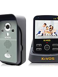 KiVOS KDB300 Wireless Visual Intercom Doorbell Household Anti-Theft Doorbell Remote Monitoring Camera Lock