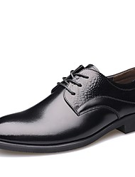 Men's Oxfords  Comfort / Pointed Toe / Closed Toe  Casual Flat Heel Lace-up Black / Brown