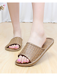 Men's Slippers & Flip-Flops Slingback Synthetic Summer Casual Slingback Flat Heel Brown Flat