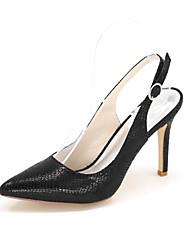 Damen-High Heels-Kleid / Lässig-Kunstleder-Stöckelabsatz-Absätze / Spitzschuh-Schwarz / Braun / Lila / Weiß
