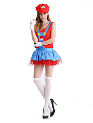 Cosplay Costumes / Party Costume Movie/TV Theme Costumes Festival/Holiday Halloween Costumes Red / Green PatchworkDress / More