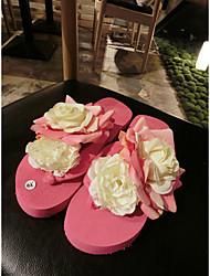 Women's Slippers & Flip-Flops Spring Summer Mary Jane Rubber Casual Flat Heel Others Pink Walking