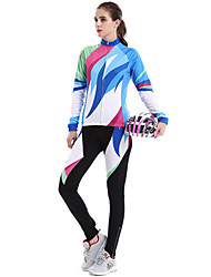 Sports Cycling Jacket with Pants Women's Long Sleeve Bike Thermal / Warm / Windproof / Dust Proof / Comfortable / SunscreenClothing