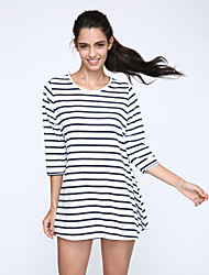 Women's Loose Stripes  Mini Dress
