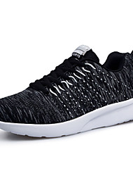 Men's Sneakers Spring / Fall Comfort / Round Toe Tulle Athletic / Casual Flat Heel Lace-up Black / Blue