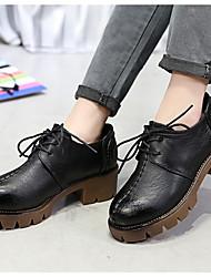 Women's Loafers & Slip-Ons Fall Comfort PU Outdoor Chunky Heel Block Heel Walking