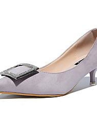 Women's Heels Spring / Summer / Fall / Winter Comfort Casual Low Heel Crystal Black / Pink / Gray Walking